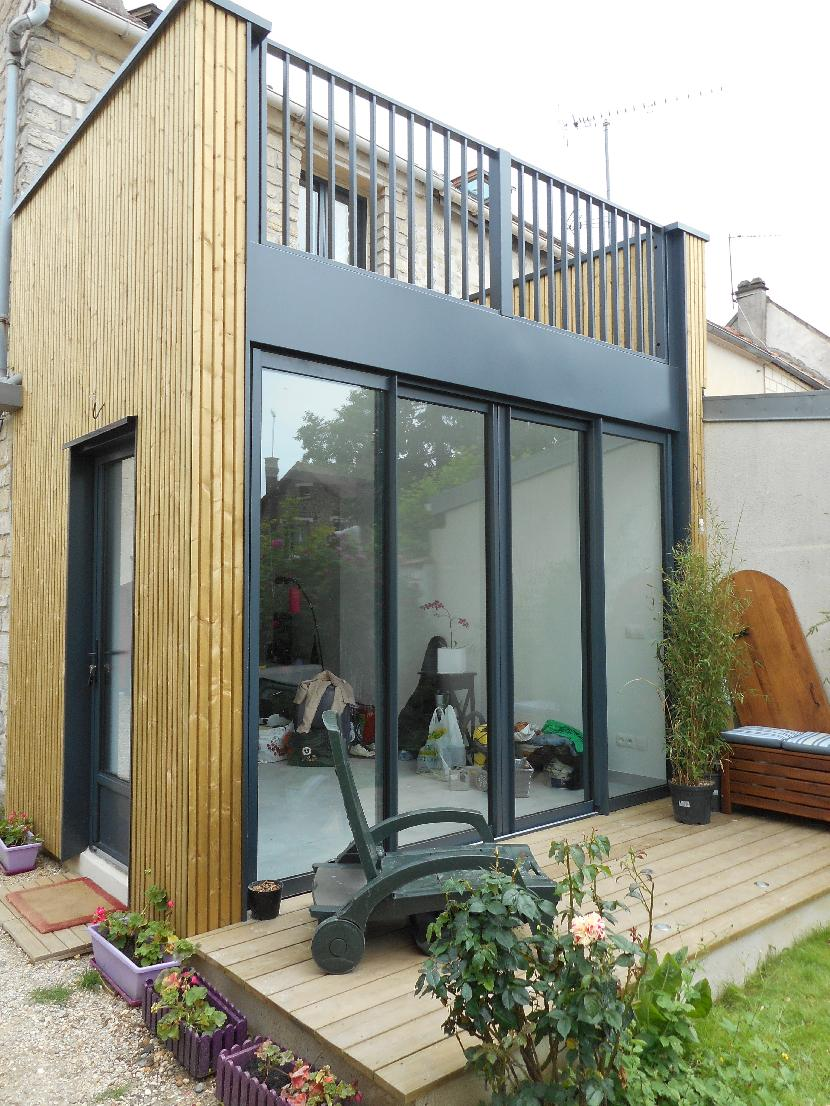 Boisphere couverture zinc 95 for Extension maison bois etage